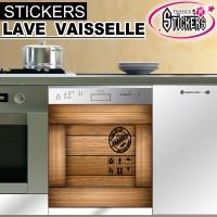 Stickers Lave Vaisselle Couleur Bois 3
