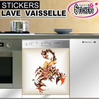 Stickers Lave Vaisselle Scorpion