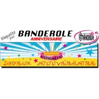 Banderole Anniversaire (Maquette M0005FS2011)