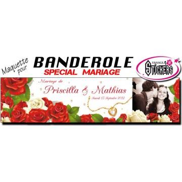 maquette pour banderole mariage personnalise m0010fs2012 - Banderole Demande En Mariage