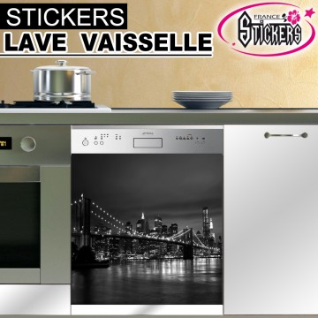 Stickers Lave Vaisselle New York 2