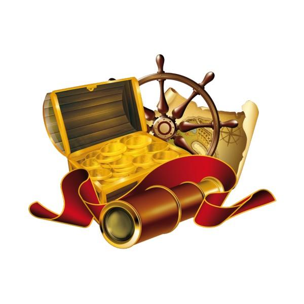 Stickers coffre de pirate france stickers - Dessin de coffre de pirate ...