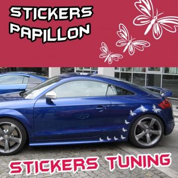 Stickers Papillons Tuning par Planche de 9