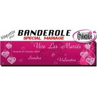 Banderole Mariage Personnalisée (Maquette M0026FS2012)