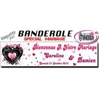 Banderole Mariage Personnalisée (Maquette M0027FS2012)