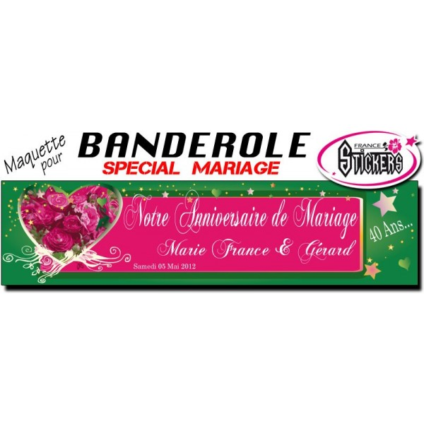 banderole mariage personnalise maquette m0028fs2012 - Banderole Mariage Personnalise