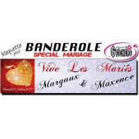 Banderole Mariage Personnalisée (Maquette M0031FS2012)