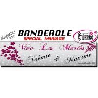 Banderole Mariage Personnalisée (Maquette M0032FS2012)