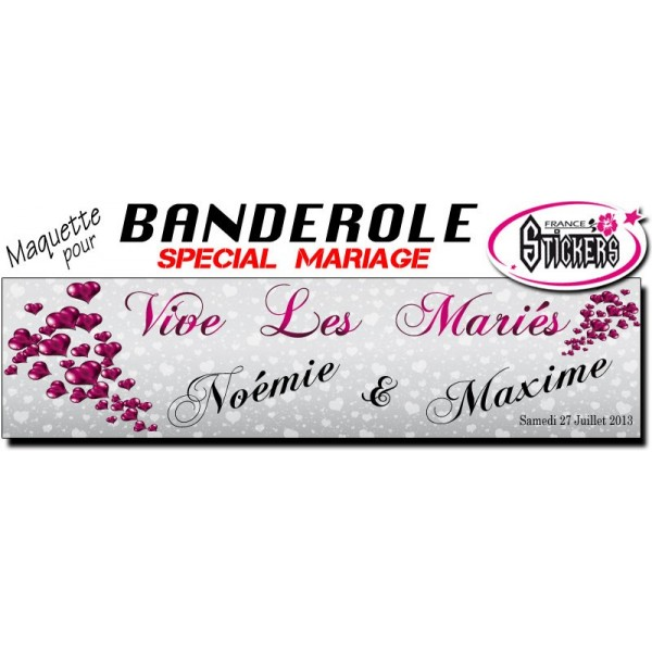 banderole mariage personnalise maquette m0032fs2012 - Banderole Mariage Personnalise