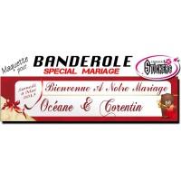 Banderole Mariage Personnalisée (Maquette M0033FS2012)