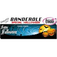 Banderole Holloween Personnalisée (Maquette M0035FS2012)