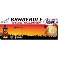 Banderole Holloween Personnalisée (Maquette M0036FS2012)