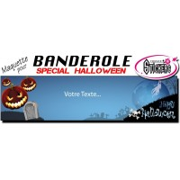 Banderole Holloween Personnalisée (Maquette M0039FS2012)
