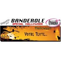 Banderole Holloween Personnalisée (Maquette M0040FS2012)