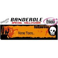 Banderole Holloween Personnalisée (Maquette M0042FS2012)