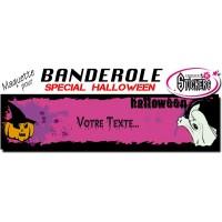 Banderole Holloween Personnalisée (Maquette M0043FS2012)