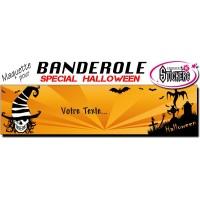 Banderole Halloween Personnalisée (Maquette M0046FS2012)