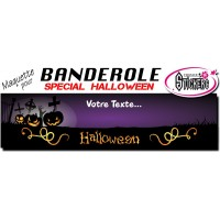 Banderole Halloween Personnalisée (Maquette M0047FS2012)