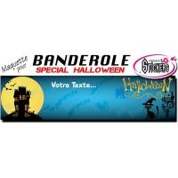 Banderole Halloween Personnalisée (Maquette M0048FS2012)