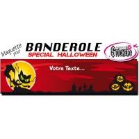 Banderole Halloween Personnalisée (Maquette M0051FS2012)