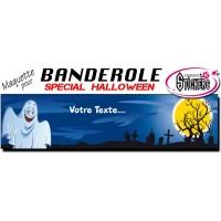 Banderole Halloween Personnalisée (Maquette M0052FS2012)