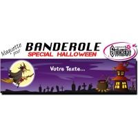 Banderole Halloween Personnalisée (Maquette M0053FS2012)