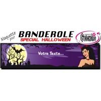 Banderole Halloween Personnalisée (Maquette M0054FS2012)