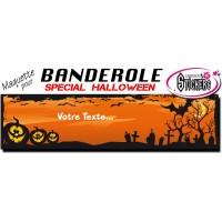 Banderole Halloween Personnalisée (Maquette M0055FS2012)
