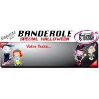 Banderole Halloween Personnalisée (Maquette M0058FS2012)