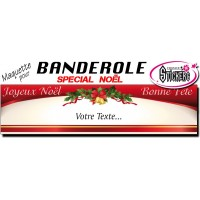Banderole Noel - Joyeux Noël (Maquette M0058FS2012)