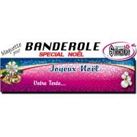 Banderole Noel - Joyeux Noël (Maquette M0063FS2012)