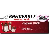 Banderole Noel - Joyeux Noël (Maquette M0065FS2012)