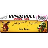 Banderole Noel - Joyeux Noël (Maquette M0067FS2012)