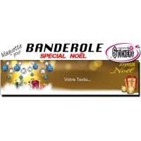 Banderole Noel - Joyeux Noël (Maquette M0071FS2012)