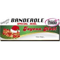 Banderole Noel - Joyeux Noël (Maquette M0075FS2012)