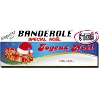 Banderole Noel - Joyeux Noël (Maquette M0076FS2012)