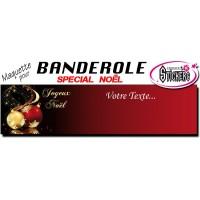 Banderole Noel - Joyeux Noël (Maquette M0078FS2012)