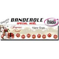 Banderole Noel - Joyeux Noël (Maquette M0080FS2012)