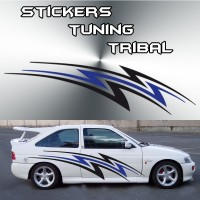 Stickers Tuning Tribal Color par 2 stt2