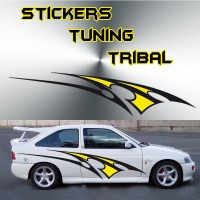 Stickers Tuning Tribal Color par 2 stt1