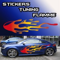 Stickers Tuning Flamme color par 2    stf1