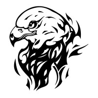 Stickers Aigle Flamme 5