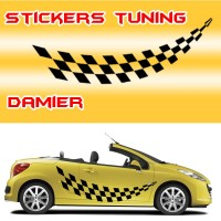 Stickers Tuning Damier – std5