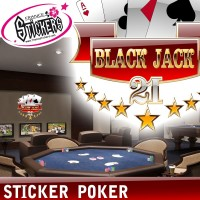 stickers poker Black Jack deco