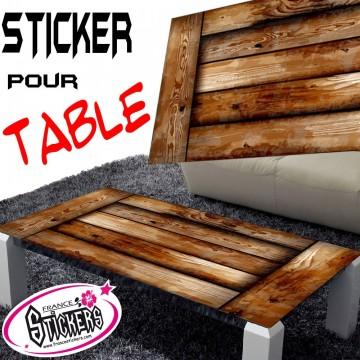 Stickers Table décor bois