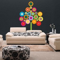 stickers Arbre Multicolore