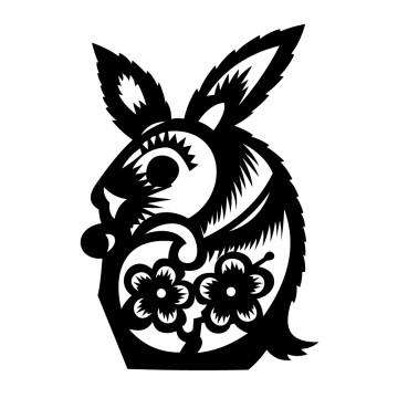 Stickers Signe astrologique chinois du Lièvre