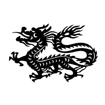 Stickers Signe astrologique chinois du Dragon
