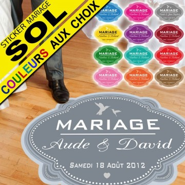 Stickers Mariage Spécial Sol - Classic Colombe