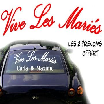 stickers Vive les Mariés + Prénoms offert